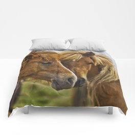 Two horses portrait  Comforters
