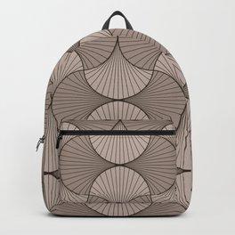 Gingko - Minimal Flower Leaves Beige Backpack