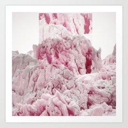 Pink Glacier Art Print