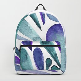 Watercolor artistic drops - purple and turquoise Backpack