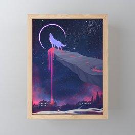Lonely Wolf Framed Mini Art Print