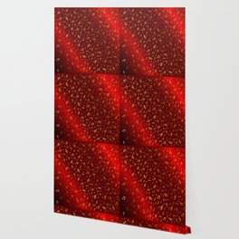 gold and silver, purple music notes in red metal shiny Wallpaper