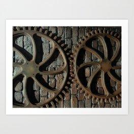 01 Gear Art Art Print