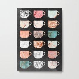 marble coffee types Metal Print