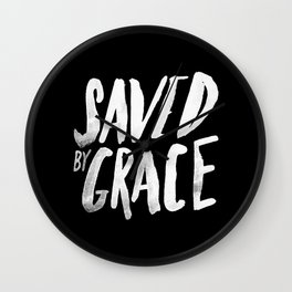 Saved by Grace II Wall Clock