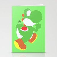 yoshi Stationery Cards featuring Yoshi(Smash) by ejgomez
