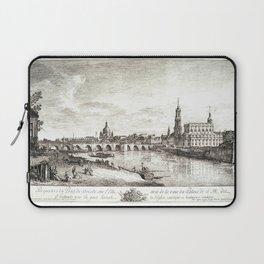 Bernardo Bellotto - View from the Bridge of Dresden on the Elbe Laptop Sleeve