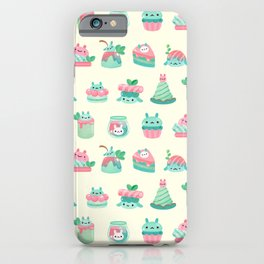 Choco Mint Rabbit iPhone Case