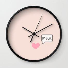 BA DUM Wall Clock