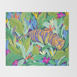 Colorful Jungle Throw Blanket