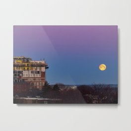March Moonset in Portland, Maine (1) Metal Print