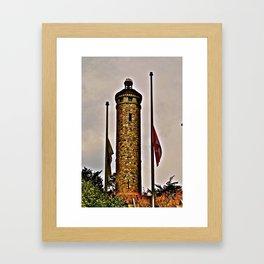 Woodbridge Memorial Tower Framed Art Print
