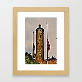 Woodbridge Memorial Tower Framed Art Print
