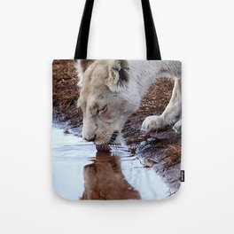 Not just a puddle but survival Tote Bag