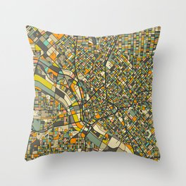 DALLAS MAP Throw Pillow