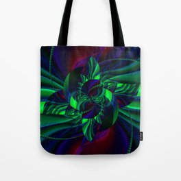 Digital Flower green and blue no. 2 Tote Bag