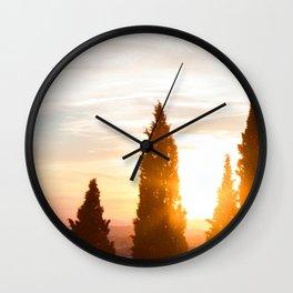 Sunset Over Verona, Italy Wall Clock