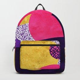 Terrazzo galaxy purple night yellow gold pink Backpack