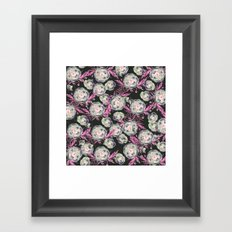 Abstract Poppy Pattern II Framed Art Print