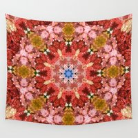 bohemian Wall Tapestries featuring Bohemian Garden by Lisa Argyropoulos