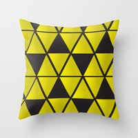 triforce Throw Pillows featuring Triforce  by Stephanie Williams