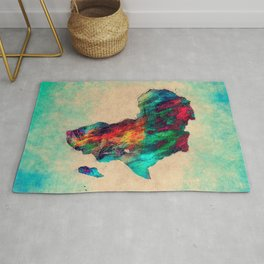 Africa color green Rug