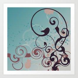Design Swirl Cookie Coloring Art Print