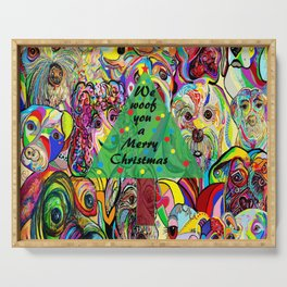 We Woof You a Merry Christmas Serving Tray