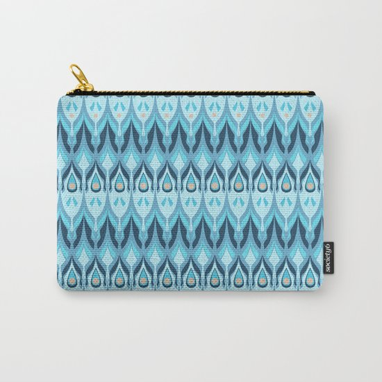 Gray-blue striped pattern . Carry-All Pouch