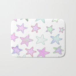 Funky Pastel Stars! Bath Mat