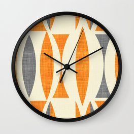Seventies  orange Wall Clock
