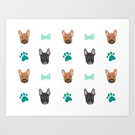 French Bulldogs Art Print