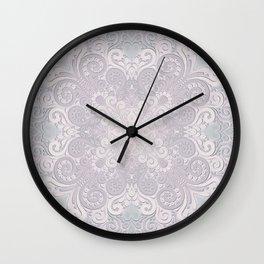 Powder Pink Watercolor Ornate Wall Clock