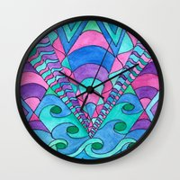gatsby Wall Clocks featuring Gatsby Inspired by Rosie Brown