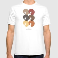 The Afro Divas Mens Fitted Tee White MEDIUM
