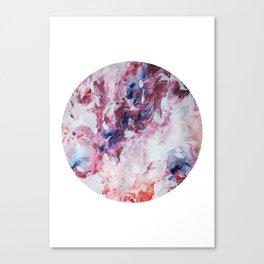 """Sudden Storm"" circle cutout painting Canvas Print"