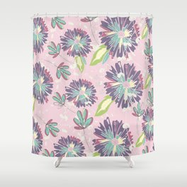 Pansy Pastels Shower Curtain