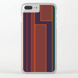 Align / Color Glow by Kimberly J Graphics Clear iPhone Case