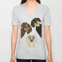 Triple Doxies Unisex V-Neck