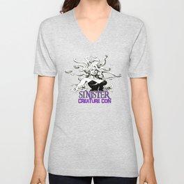 2017 June Sinister Creature Con Medusa Shirt Unisex V-Neck