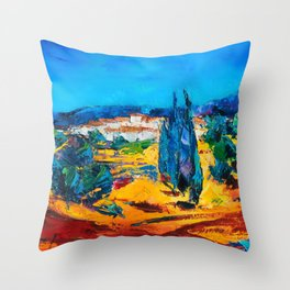 Sunny Day In Provence Throw Pillow