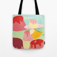 dessert Tote Bags featuring Dessert by Loezelot