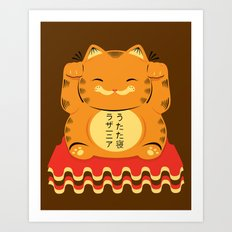 Lucky Garfield Art Print