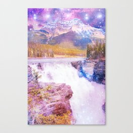 Waterfall and Mountain Canvas Print