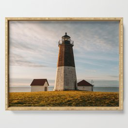 Sunrise at Point Judith Light Serving Tray