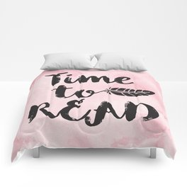Time to Read - Pink  Comforters