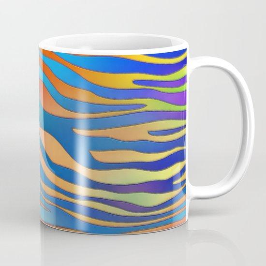 Colored Zebra Pattern Mug