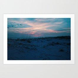 Sand Dunes at Sunset Art Print