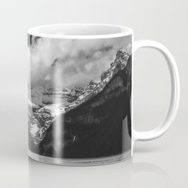 Lake Louise Black and White Minimalism Photography | Black and White | Photography Coffee Mug