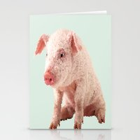 pig Stationery Cards featuring Pig by Dora Birgis